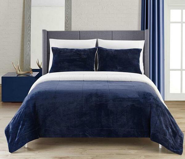 Chic-Home-Ernest-3-Piece-Navy-Sherpa-Blanket