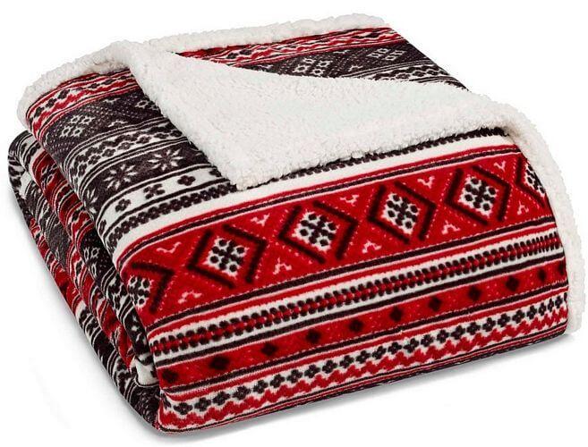 Eddie-Bauer-Plush-Sherpa-Blankets