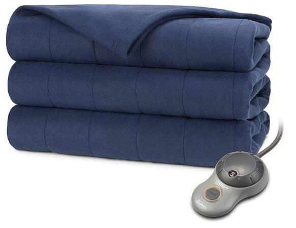 Sunbeam-Quilted-Fleece-Electric-Heated-Blanket