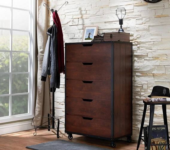 Furniture-of-America-Aurville-Vintage-Walnut-5-Drawer-Chest