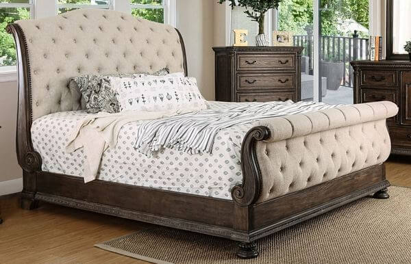 Furniture-of-America-Brev-Rustic-Beige-Fabric-Button-tufted-Sleigh-Bed