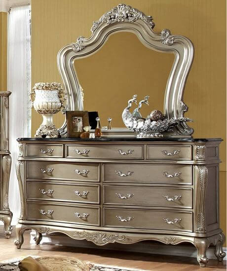 Furniture-of-America-Kele-Gold-2-piece-Dresser-and-Mirror-Set