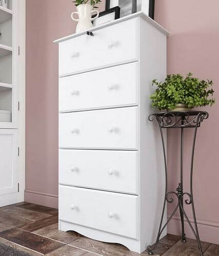Solid-Wood-5-Super-Jumbo-Drawer-Chest-with-Lock-by-Palace-Imports