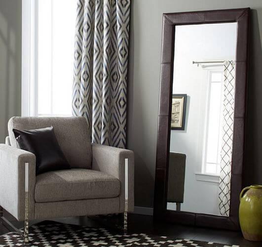 Abbyson-Delano-Dark-Brown-Leather-Floor-Mirror