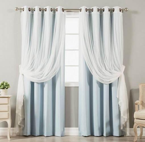 Aurora-Home-Mix-Match-Blackout-Tulle-Lace-Bronze-Grommet-4-Piece-Curtain-Panel-Set