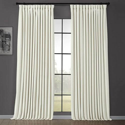 Exclusive-Fabrics-Off-White-Velvet-Blackout-Extra-Wide-Curtain-Panel
