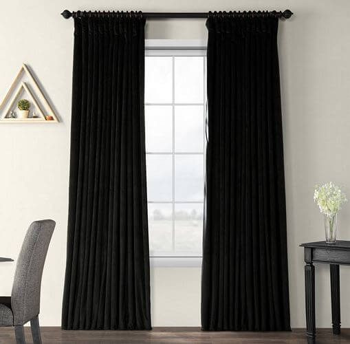 Exclusive-Fabrics-Warm-Black-Velvet-Blackout-Extra-Wide-Single-Curtain-Panel