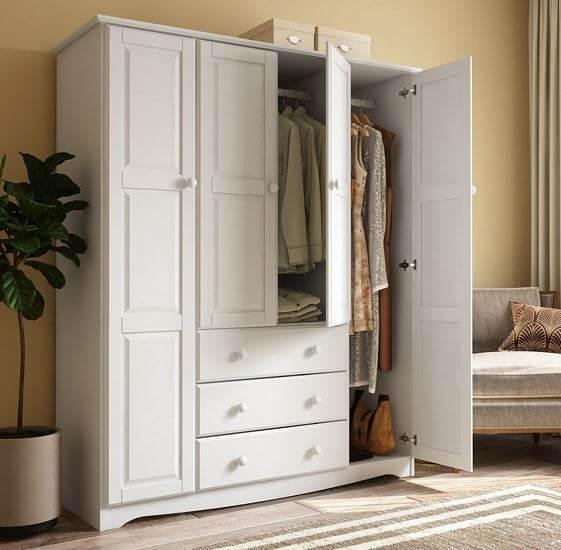 Family-4-door-Solid-Wood-Wardrobe