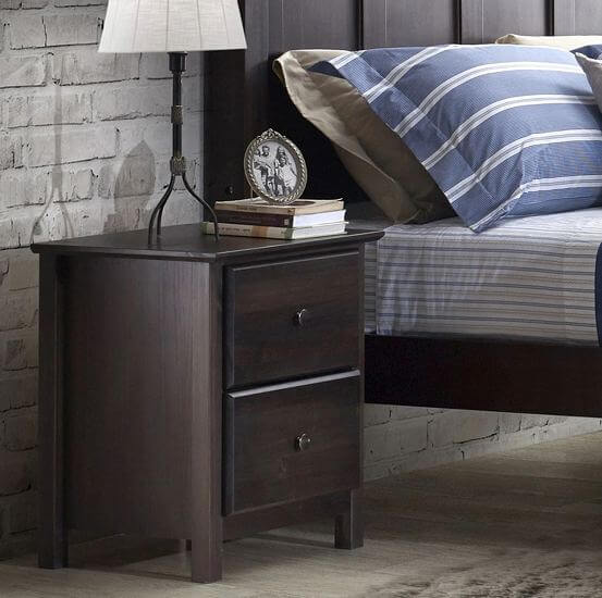 Grain-Wood-Furniture-Shaker-2-drawer-Solid-Wood-Nightstand