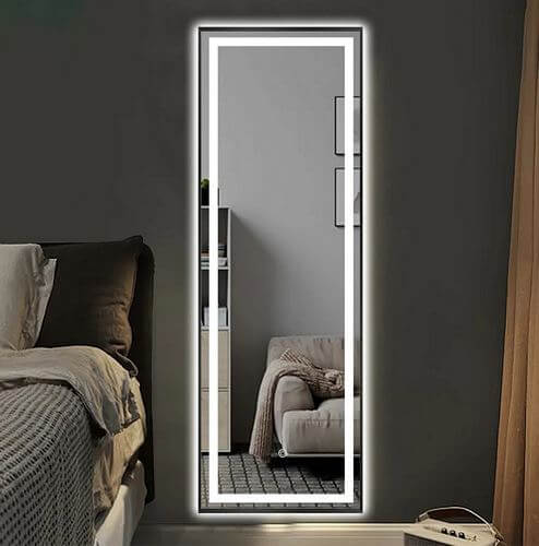 LED-Illuminated-Aluminum-Alloy-Framed-Full-Length-Anti-fog-Mirror
