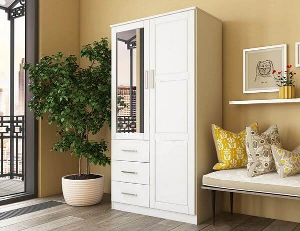 Metro-2-Door-Wardrobe-Armoire-with-Mirror-3-Drawers