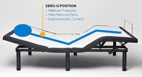 zero g bed base position