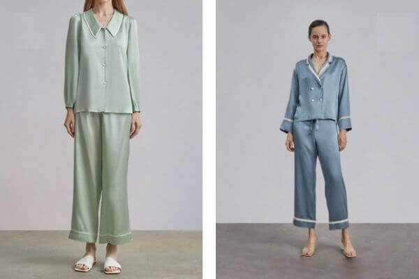 silk sleepwear set