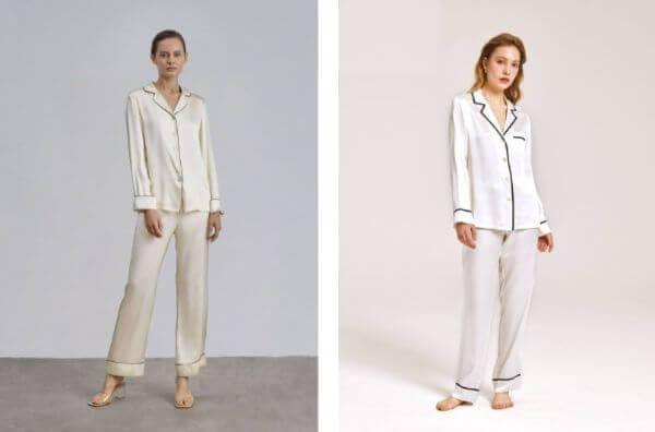 silk 2 piece pajama set