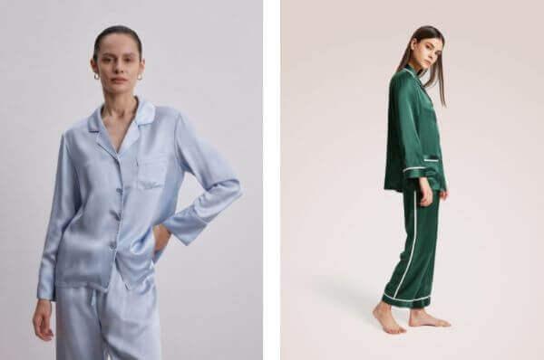 silk pajama set women's