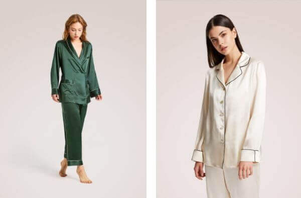 washable silk pajama set